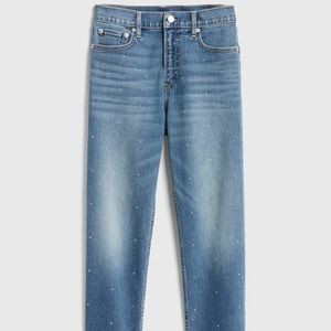 Studded cropped jeans